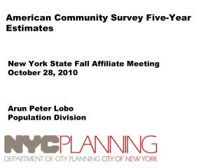 American Community Survey Five-Year Estimates