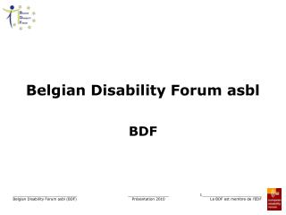 Belgian Disability Forum asbl