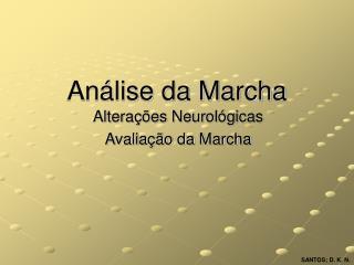 Análise da Marcha
