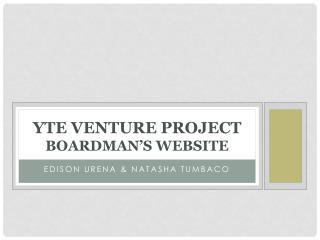 YTE venture project Boardman's website