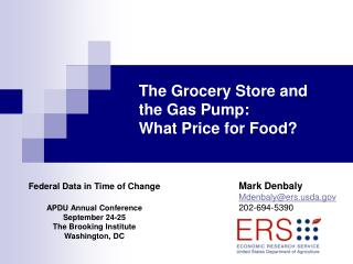 Federal Data in Time of Change APDU Annual Conference September 24-25 The Brooking Institute