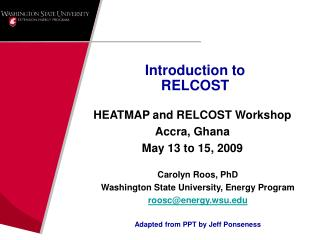 Introduction to  RELCOST