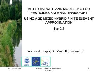 ARTIFICIAL WETLAND MODELLING FOR PESTICIDES FATE AND TRANSPORT