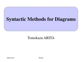 Syntactic Methods for Diagrams