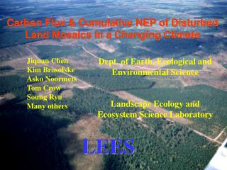 Carbon Flux & Cumulative NEP of Disturbed Land Mosaics in a Changing Climate