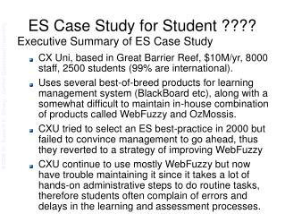 ES Case Study for Student ????