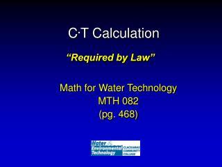 C . T Calculation