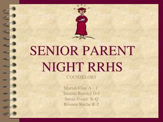 SENIOR PARENT NIGHT RRHS