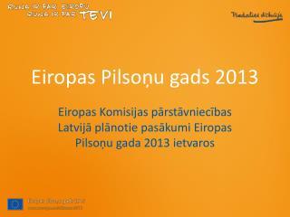 Eiropas Pilsoņu gads 2013