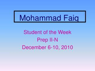 Mohammad Faiq