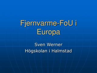 Fjernvarme-FoU i Europa
