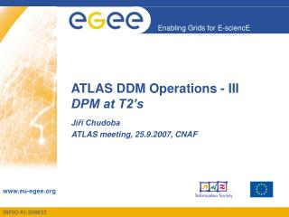 ATLAS DDM Operations - III DPM at T2�s