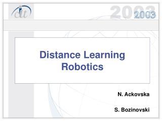 Distance Learning  Robotics