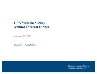 CFA Victoria Society Annual Forecast Dinner