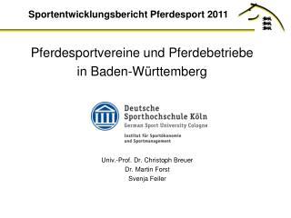 Pferdesportvereine und Pferdebetriebe  in Baden-Württemberg