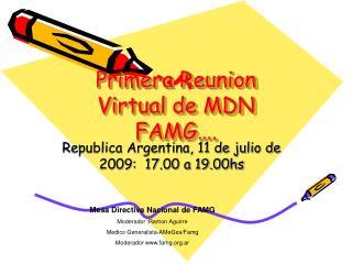 Primera Reunion  Virtual de MDN FAMG….