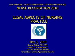 LOS ANGELES COUNTY DEPARTMENT OF HEALTH SERVICES NURSE RECONGITION 2010