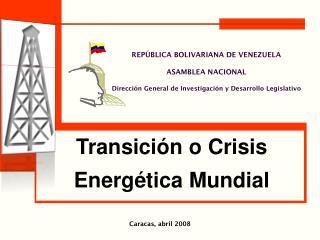 Caracas, abril 2008
