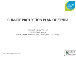 CLIMATE PROTECTION PLAN OF STYRIA