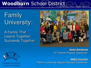 Family University:  A Family That Learns Together, Succeeds Together