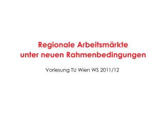 Vorlesung TU Wien WS 2011/12