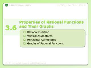 Properties of Rational Functions and Their Graphs