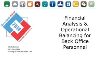 Financial Analysis & Operational Balancing for Back Office Personnel