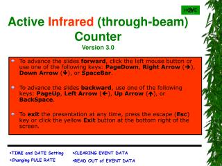 Active Infrared through-beam Counter Version 3.0