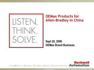OEMax Products for Allen-Bradley in China