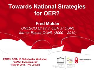 Towards National Strategies for OER?