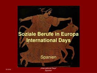 Soziale Berufe in Europa  International Days