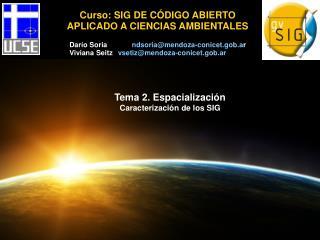 Curso: SIG DE CÓDIGO ABIERTO APLICADO A CIENCIAS AMBIENTALES