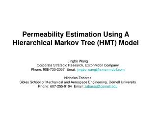 Permeability Estimation Using A Hierarchical Markov Tree HMT Model