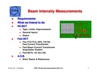 Beam Intensity Measurements