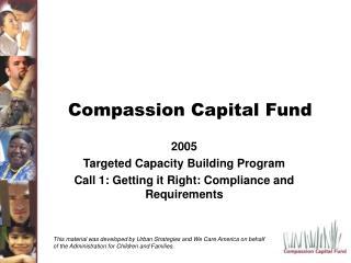 Compassion Capital Fund