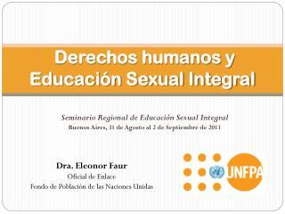 Derechos humanos y  Educación Sexual Integral