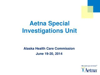 Aetna Special Investigations Unit