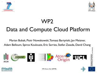 WP2  Data and Compute Cloud Platform