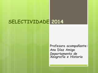 SELECTIVIDADE  2014