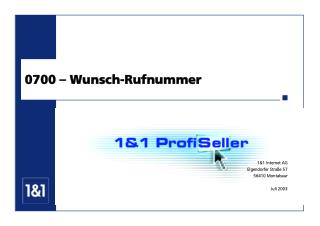 0700 – Wunsch-Rufnummer