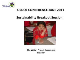 USDOL CONFERENCE JUNE 2011
