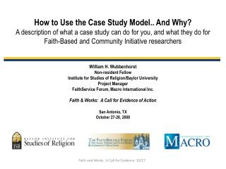 How to Use the Case Study Model.. And Why?