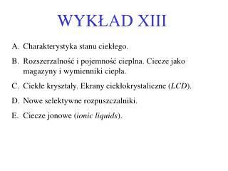 WYK ŁAD XIII