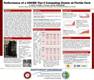 Performance of a USCMS Tier-3 Computing Cluster at Florida Tech