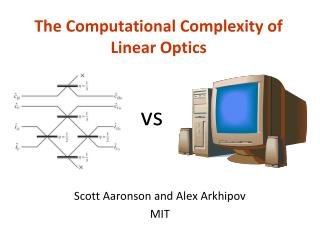 The Computational Complexity of Linear Optics