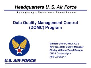 Data Quality Management Control DQMC Program