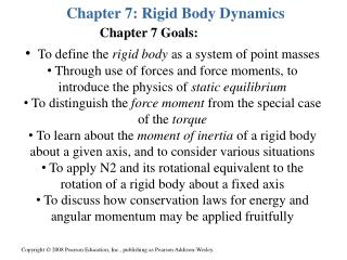 Chapter 7: Rigid Body Dynamics