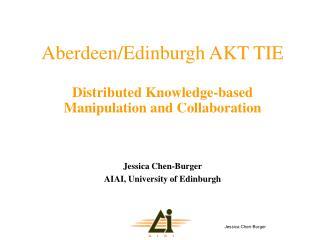 Aberdeen/Edinburgh AKT TIE Distributed Knowledge-based Manipulation and Collaboration