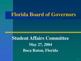Florida Board of Governors