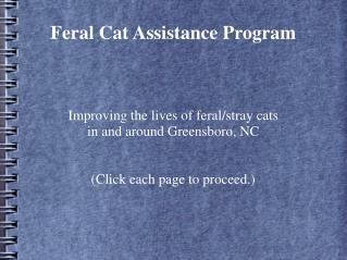 Feral Cat Assistance Program